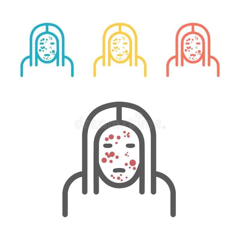 Überstürzte flache Ikone Vektorzeichen für Netzgraphik lizenzfreie abbildung