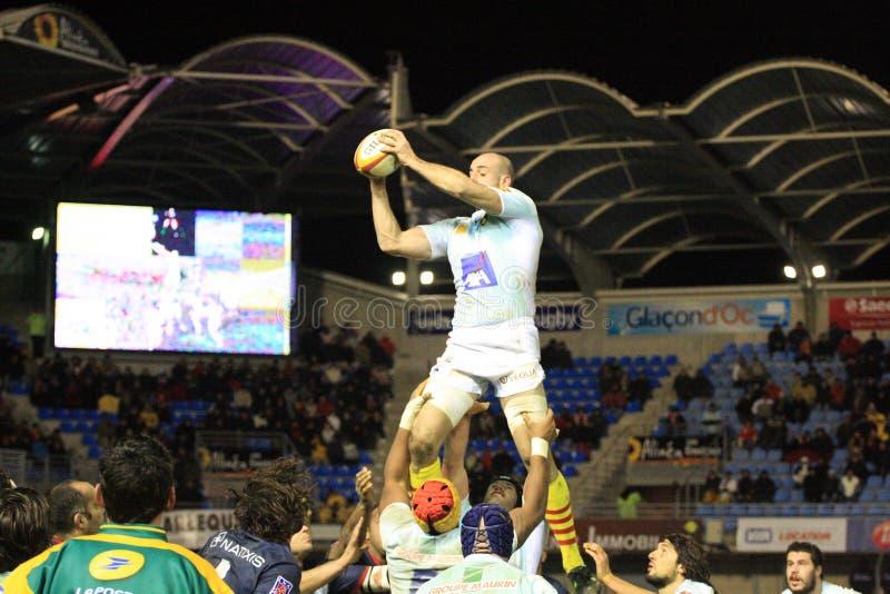Übersteigen Sie Abgleichung USAP des Rugbys 14 gegen das LAUFEN VON METRO 92 stockfotografie