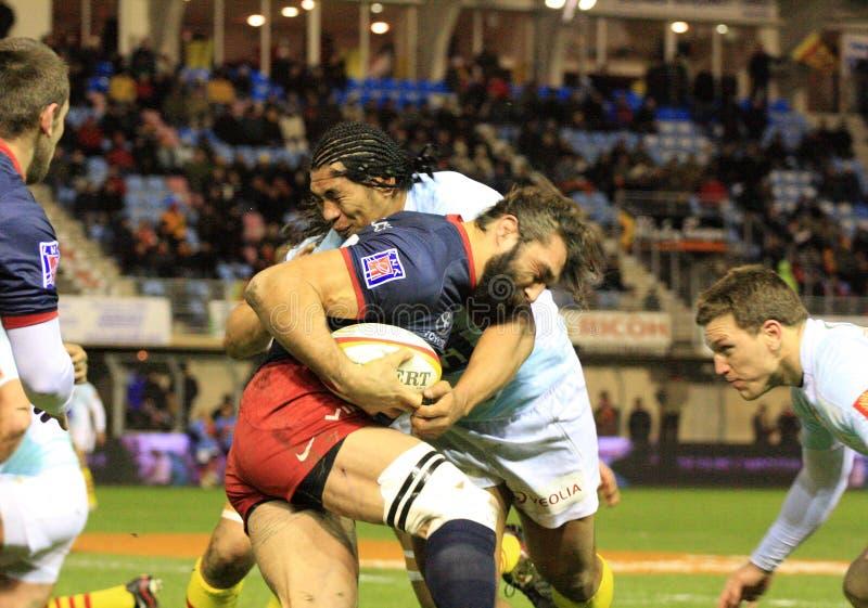 Übersteigen Sie Abgleichung USAP des Rugbys 14 gegen laufende 92 stockbilder
