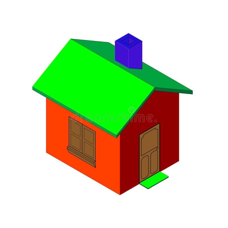 Übertragen Sie festes Haus   stock abbildung