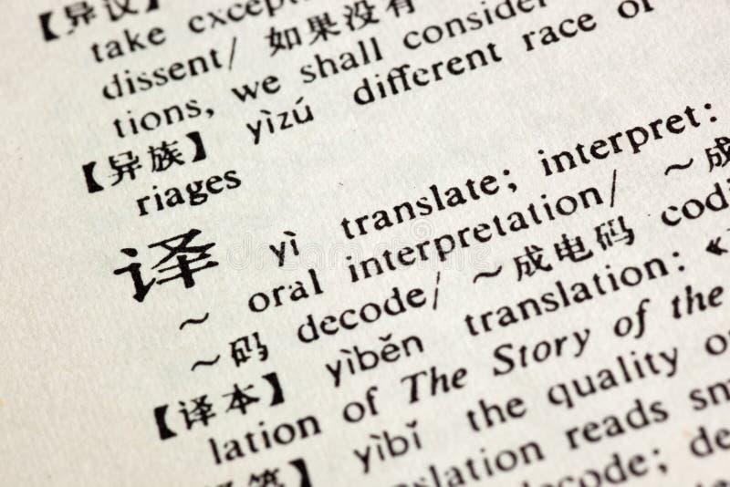 Übertragen Sie geschrieben auf Chinesen lizenzfreies stockfoto