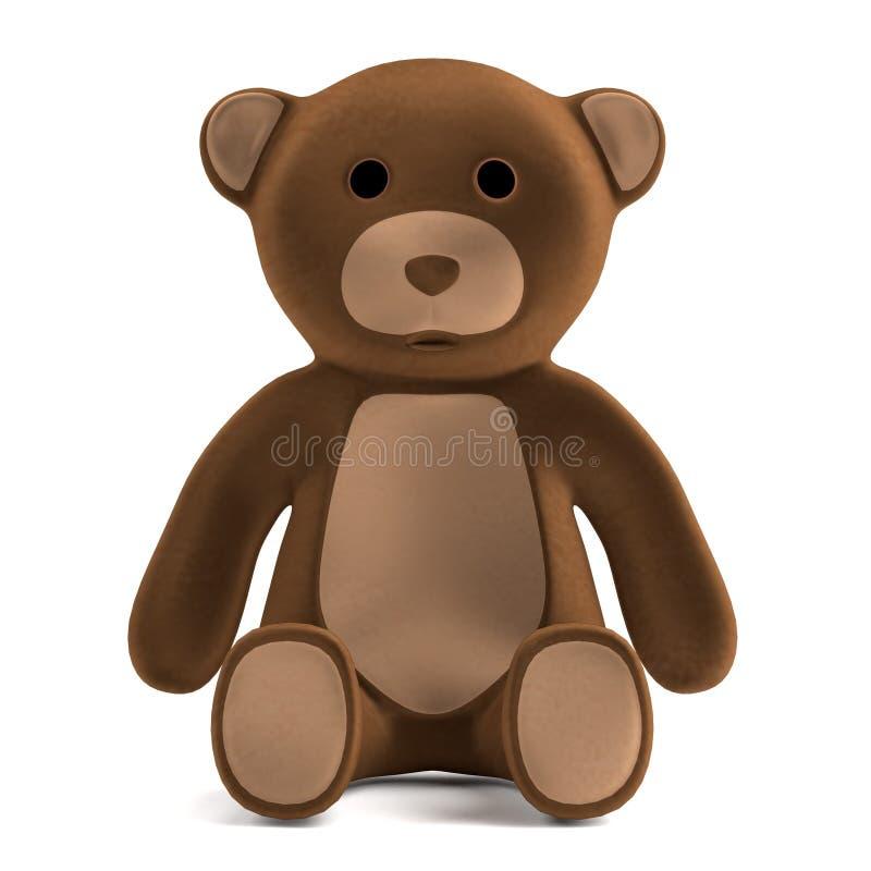 Übertragen Sie vom Teddybären lizenzfreie abbildung