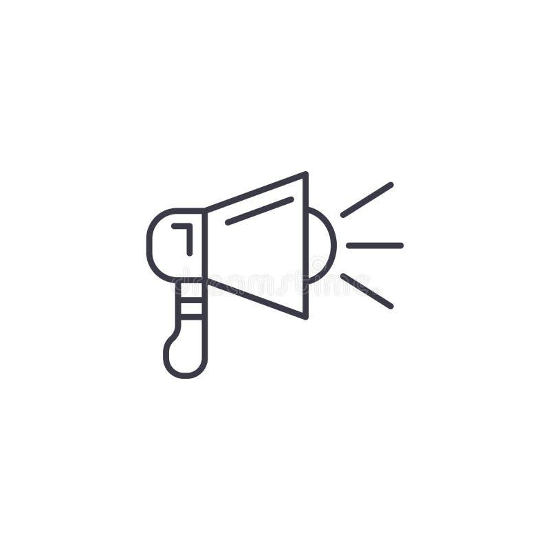 Übertragendes lineares Ikonenkonzept Sendungslinie Vektorzeichen, Symbol, Illustration vektor abbildung