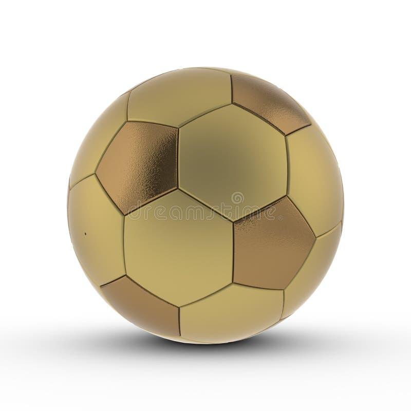 Übertragene Kugel des Fußballs 3D stock abbildung