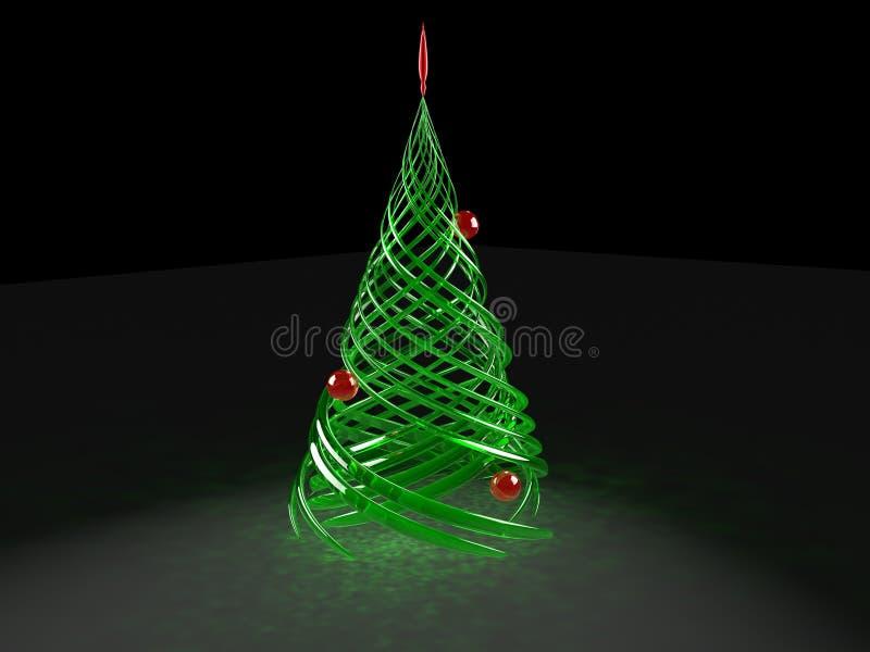 Übertragene stilisiert WeihnachtsKiefer stock abbildung