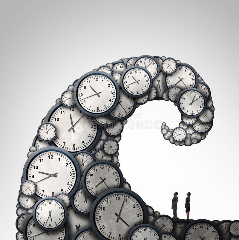 Überwältigter Zeitplan lizenzfreie abbildung