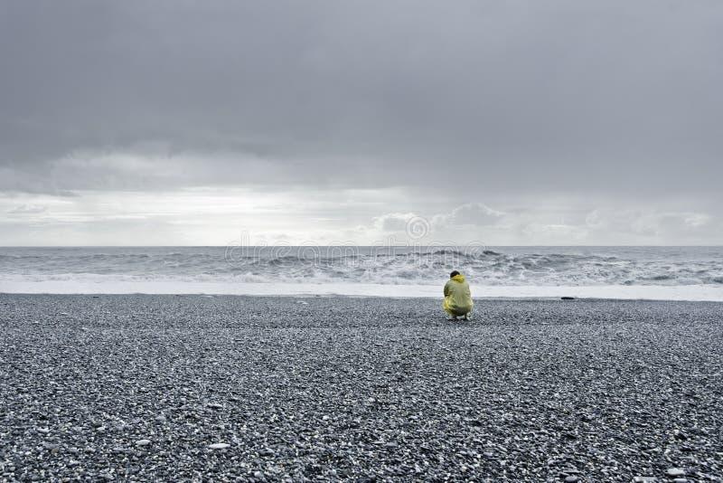 Überwachen des Ozeans stockfoto
