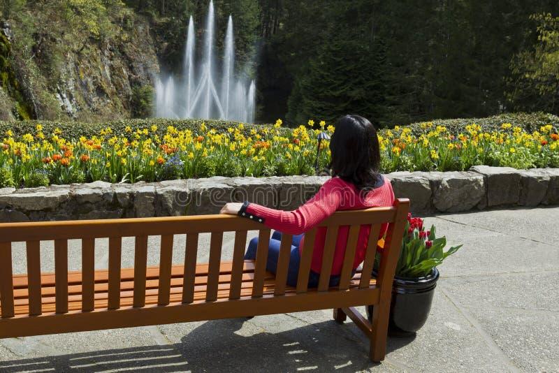 Überwachen des Wasserbrunnens stockfotografie
