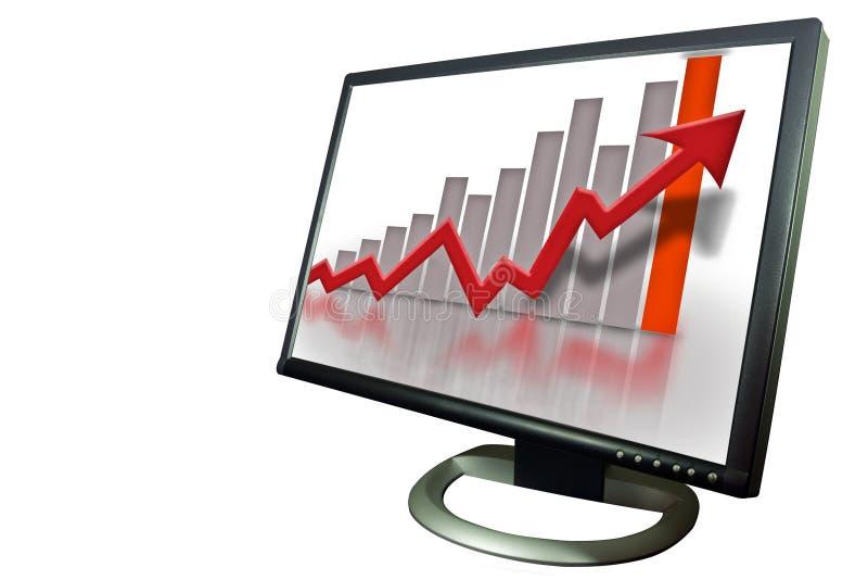 Überwachen Sie Finanzbalkendiagrammdiagramm lizenzfreie abbildung