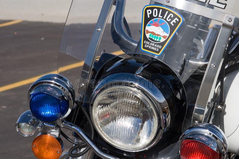Überwachen Sie Motorrad polizeilich lizenzfreie stockfotos