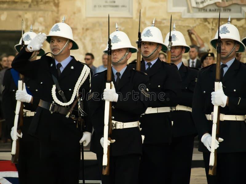 Überwachen Sie Parade polizeilich stockfoto
