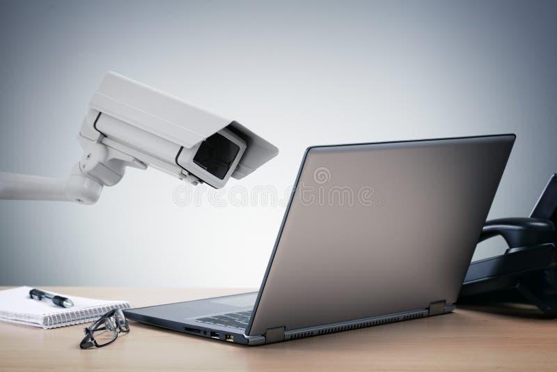 Überwachung des großen Bruders stockfotografie