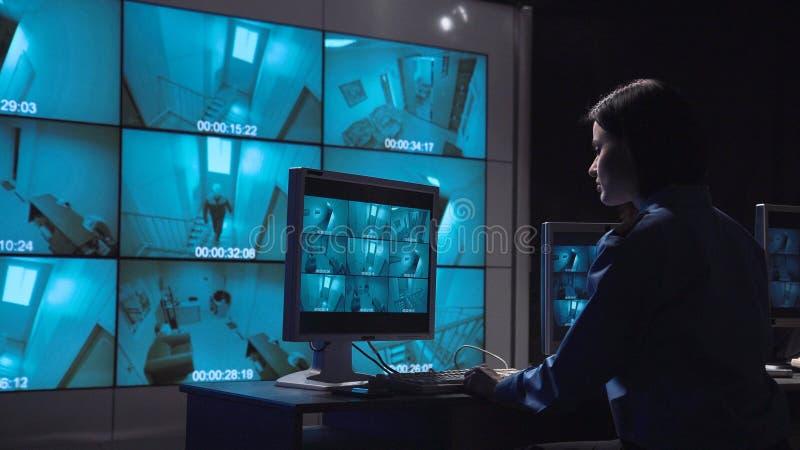 Überwachung des Personenüberwachungs-geschlossenen Stromkreises lizenzfreies stockfoto