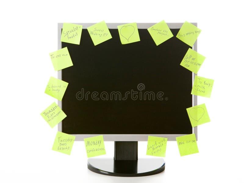 Überwachungsgerät mit Aufklebern lizenzfreie stockfotografie