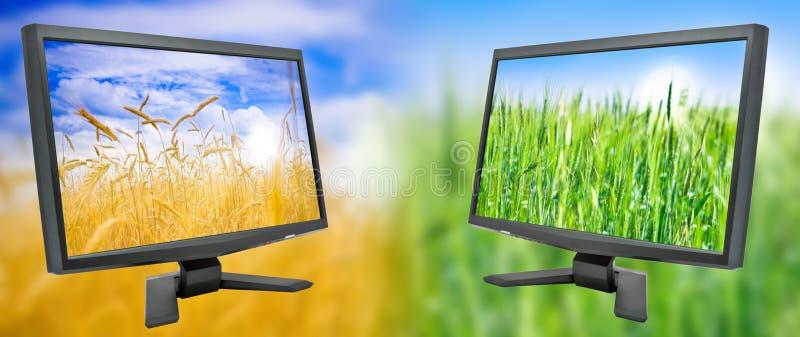 Überwachungsgerät zwei lizenzfreie stockbilder