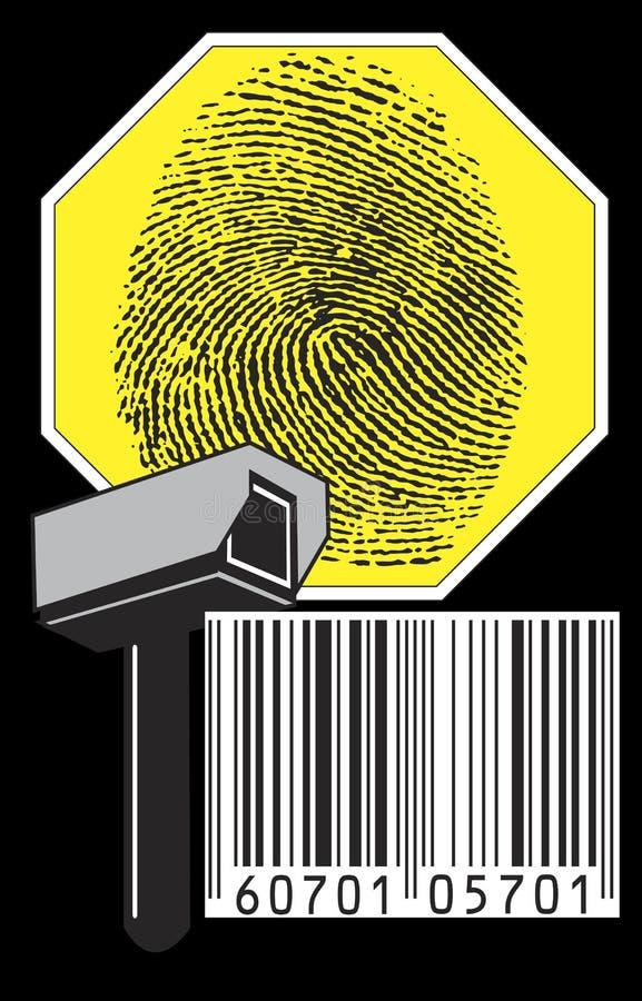 Überwachungskamera lizenzfreie abbildung