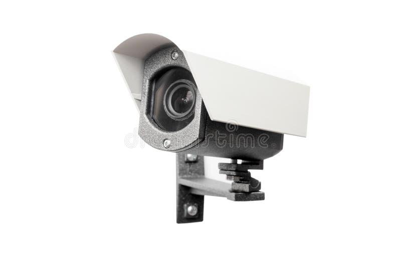 Überwachungskamera auf dem weißen Hintergrund lizenzfreies stockfoto
