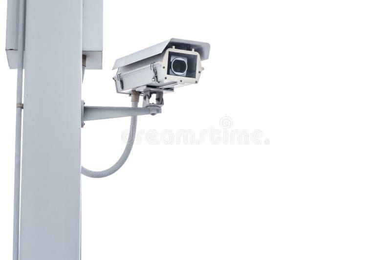 Überwachungskamera getrennt auf Weiß lizenzfreies stockbild