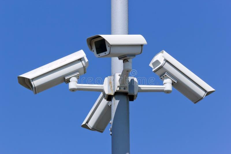 Überwachungskameras lizenzfreies stockfoto