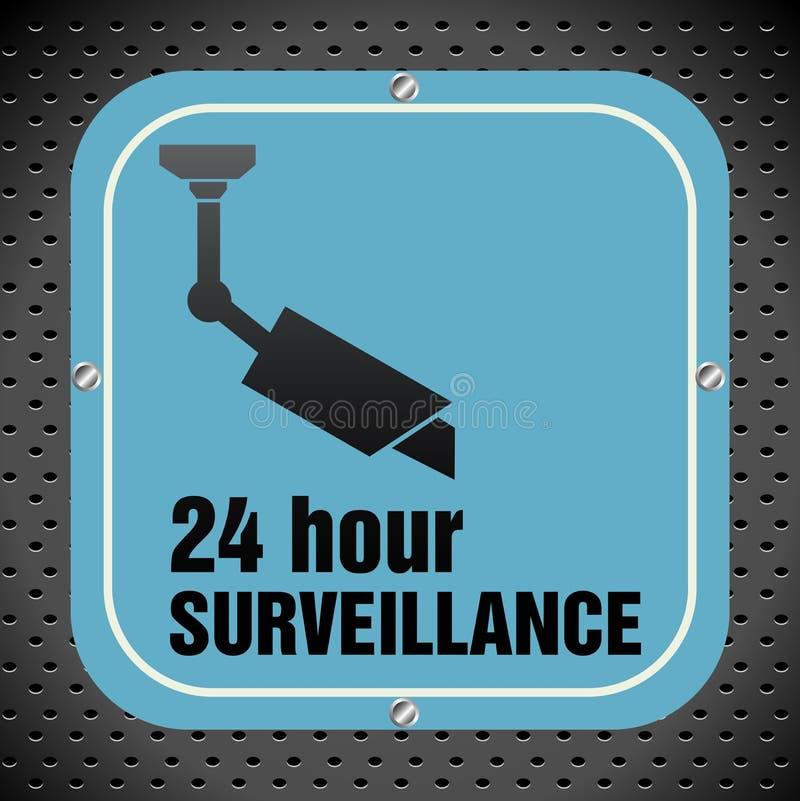 Überwachungsplatte lizenzfreie abbildung