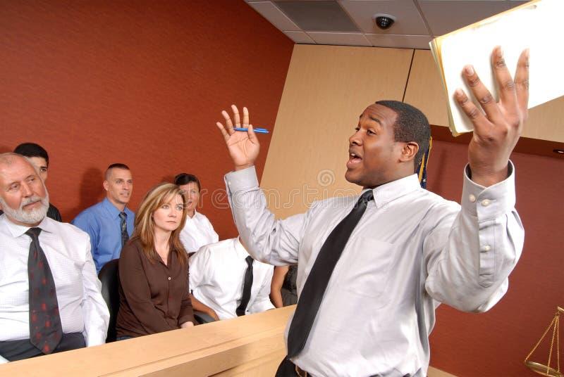 Überzeugen der Jury lizenzfreie stockfotos