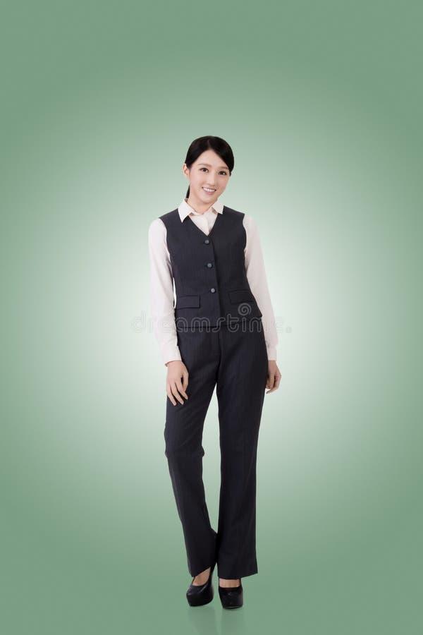 Überzeugte asiatische Geschäftsfrau stockfotos