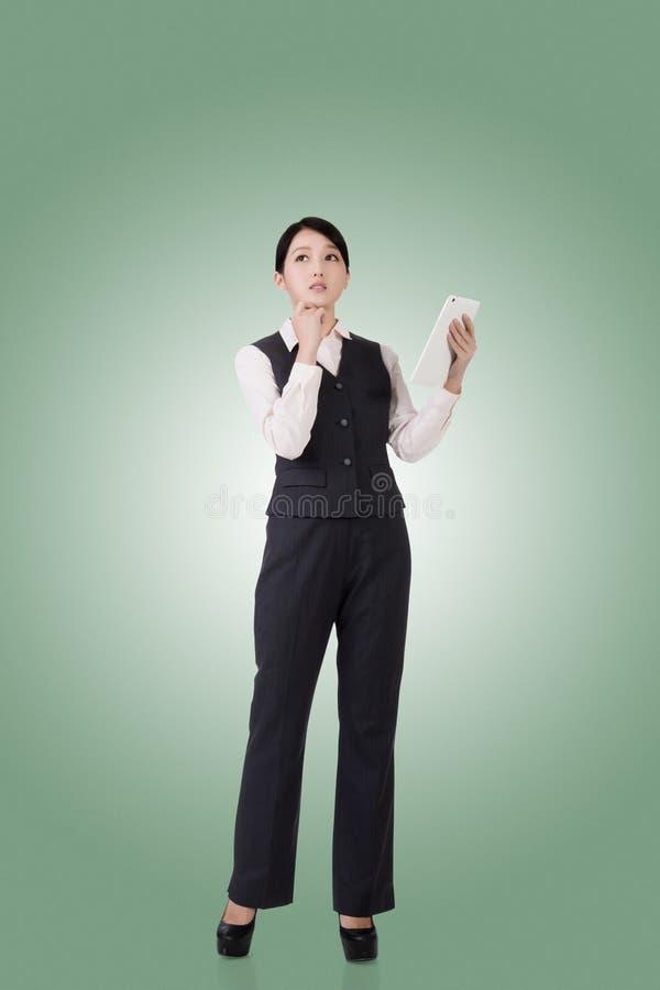 Überzeugte asiatische Geschäftsfrau lizenzfreies stockbild