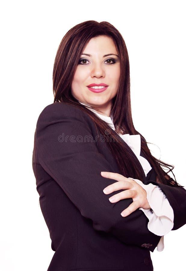 Download Überzeugte Frau stockbild. Bild von klage, brunette, chef - 43321