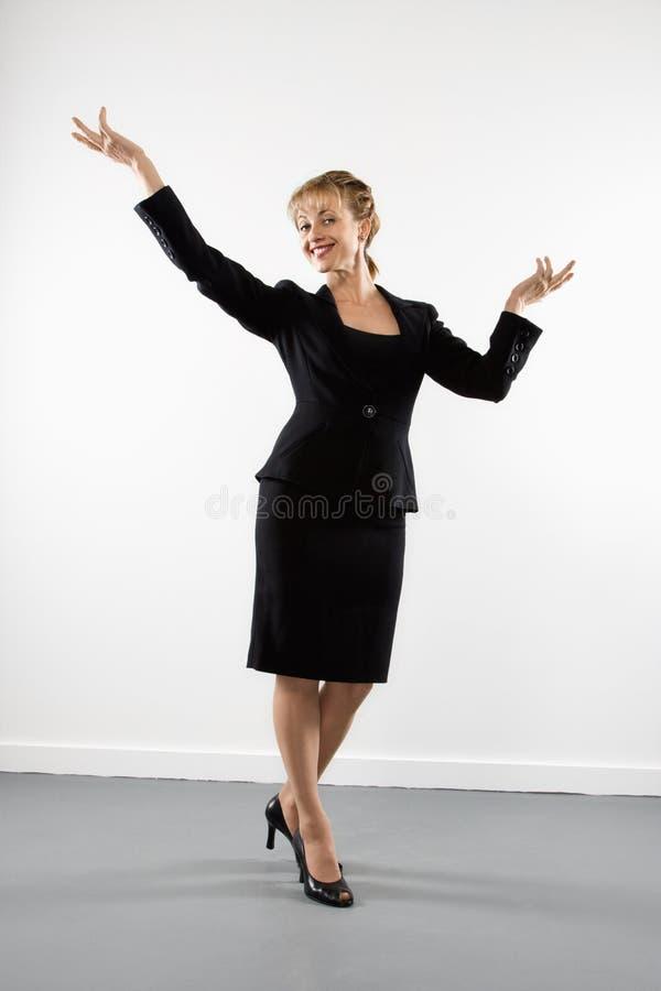 Überzeugte Geschäftsfrau. stockbild