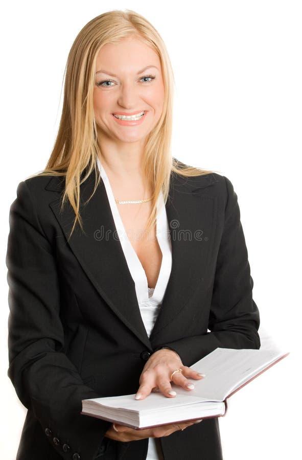 Überzeugte Geschäftsfrau getrennt lizenzfreie stockfotografie