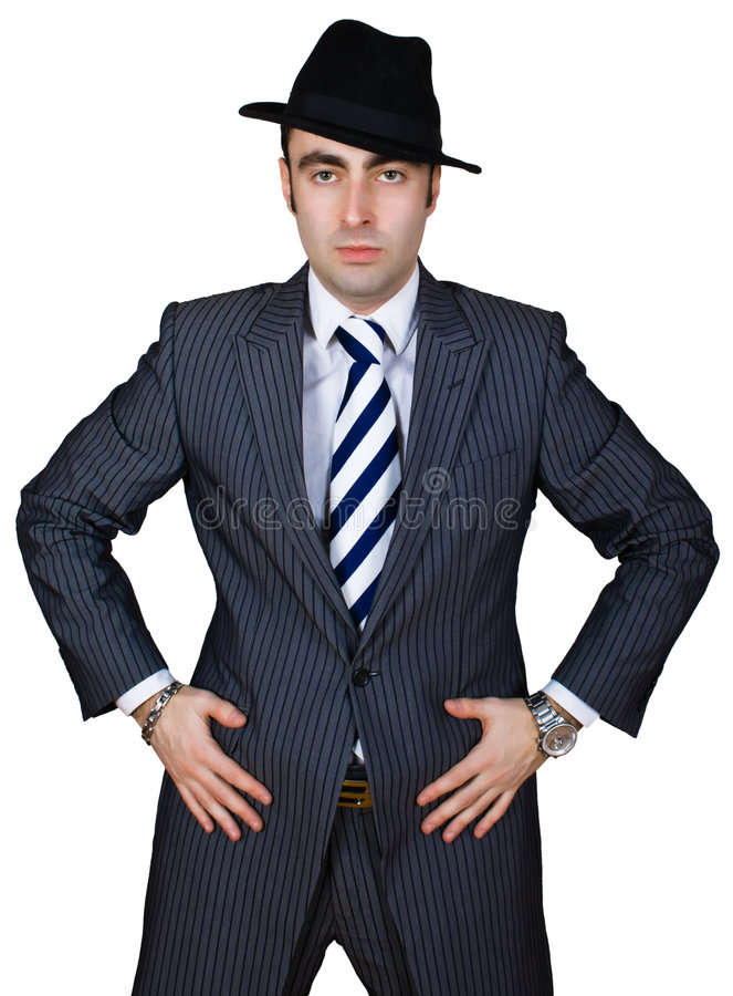 Überzeugter Geschäftsmann stockbild