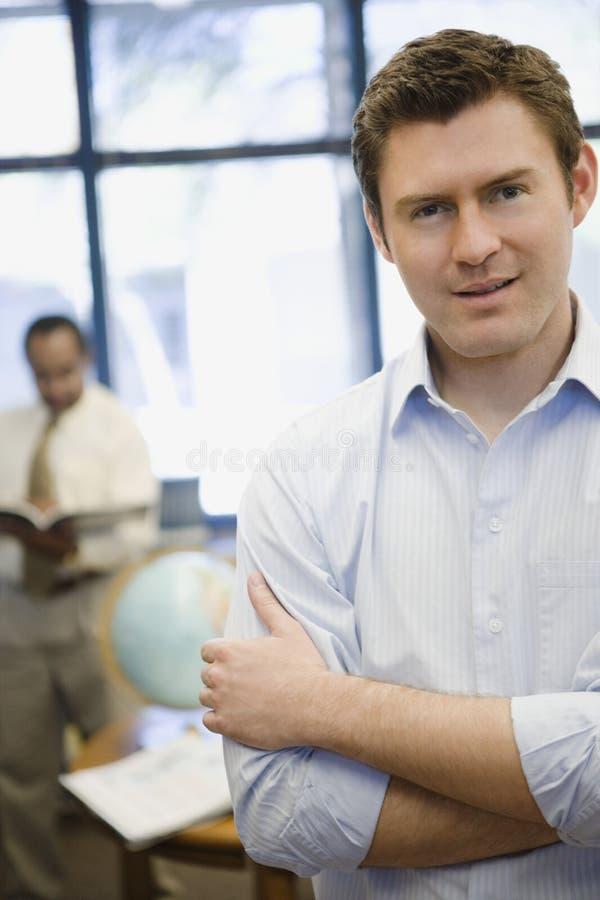 Überzeugter Highschoollehrer lizenzfreies stockfoto