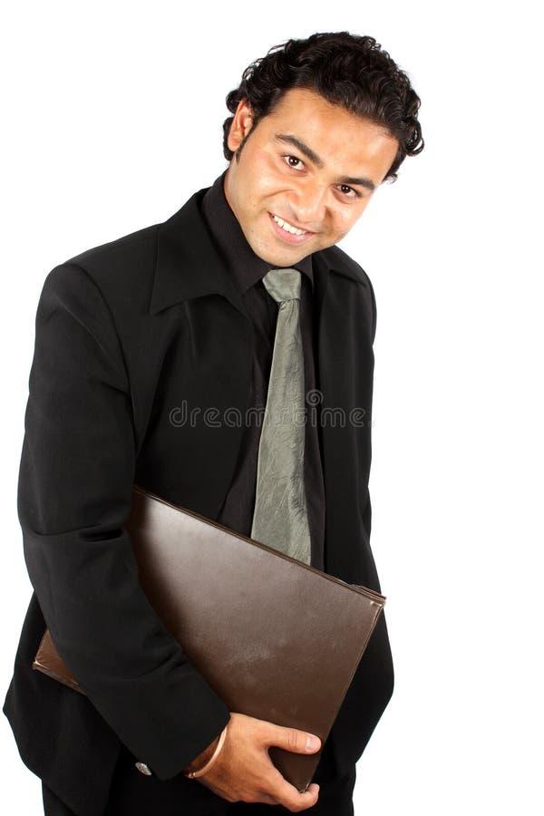 Überzeugter indischer Geschäftsmann lizenzfreies stockbild