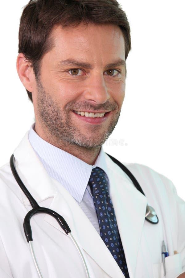 Überzeugter junger Doktor lizenzfreies stockbild
