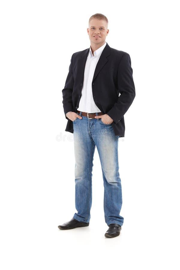 Überzeugter junger Geschäftsmann lizenzfreies stockbild