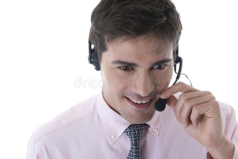 Überzeugter Kundendienst-Repräsentant lizenzfreie stockbilder