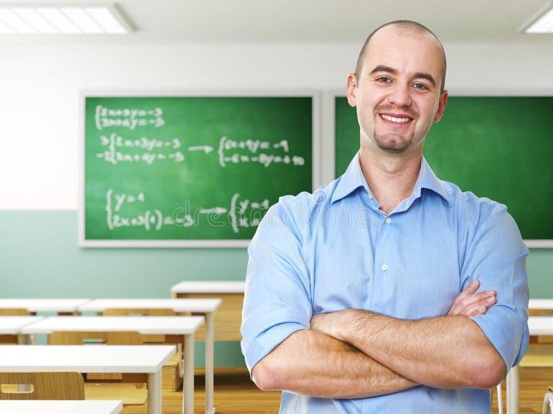 Überzeugter Lehrer lizenzfreie stockbilder