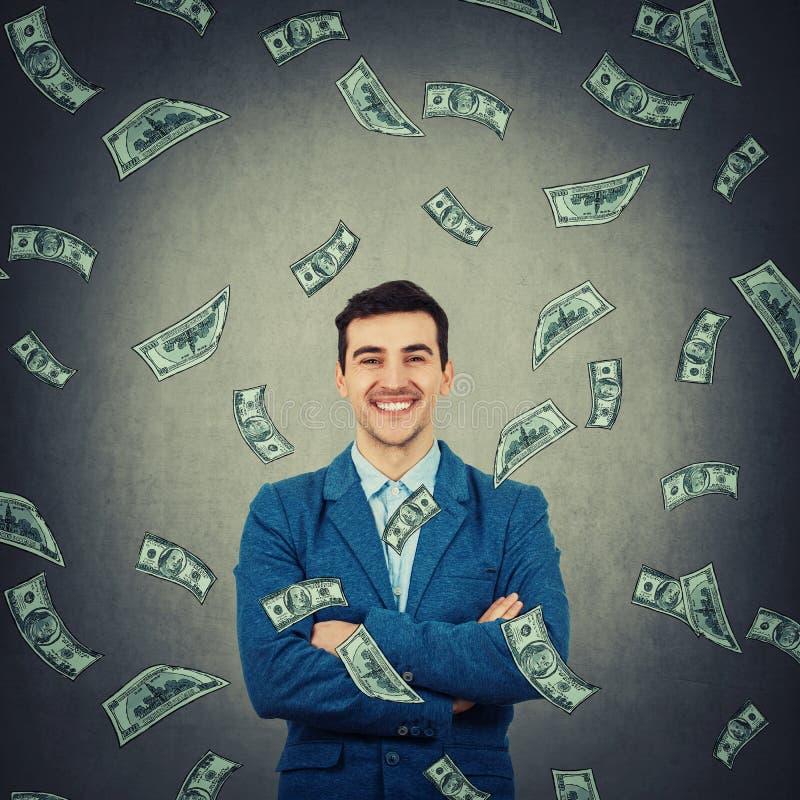 Überzeugter reicher Geschäftsmann stockfotos