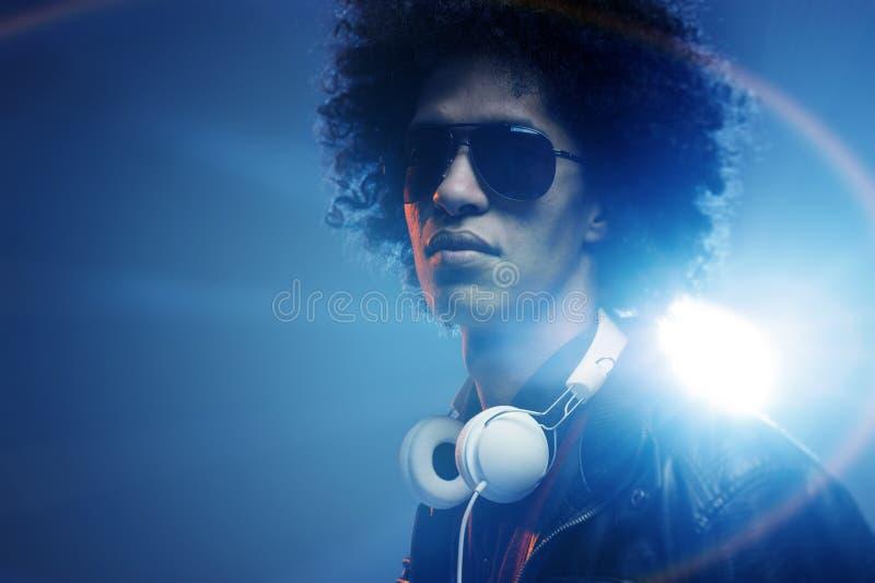 Überzeugtes DJ lizenzfreie stockfotos