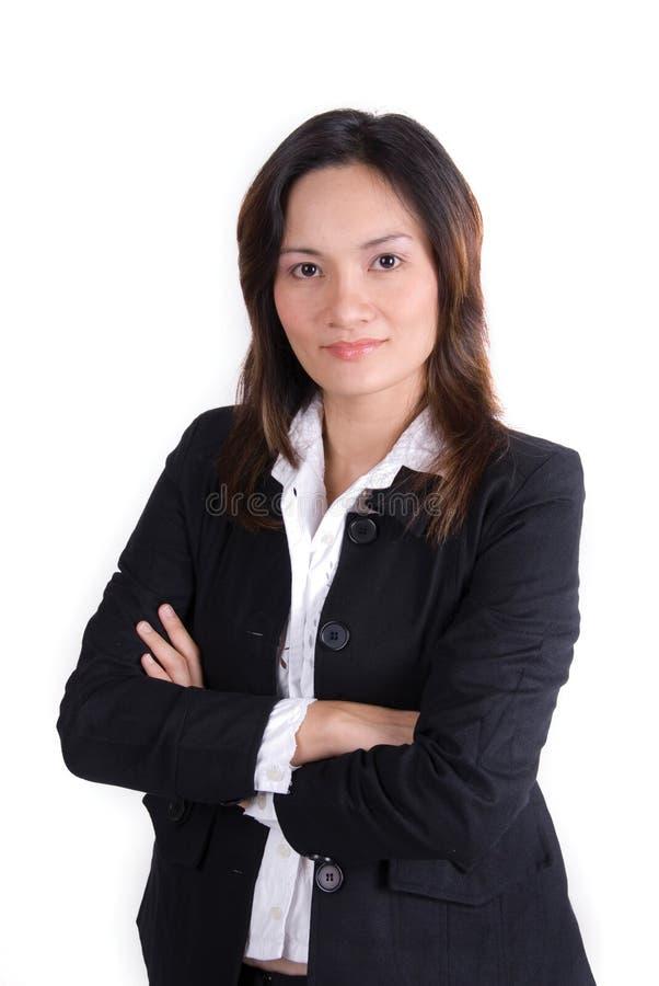 Überzeugtes Geschäfts-Mädchen stockfotografie
