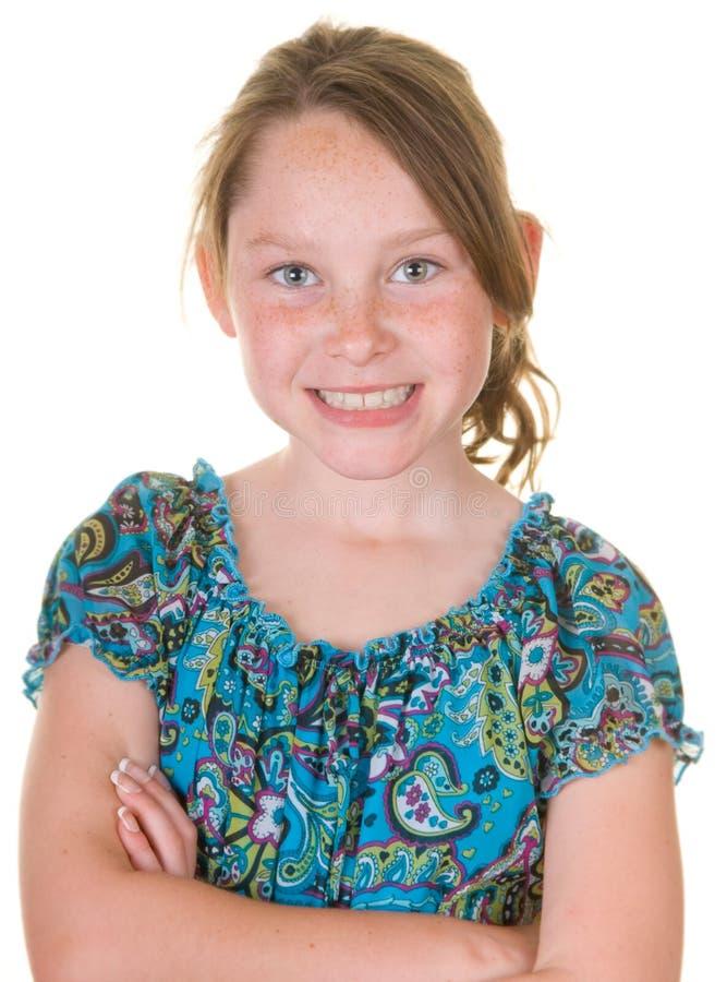 Überzeugtes junges Mädchen stockfotografie