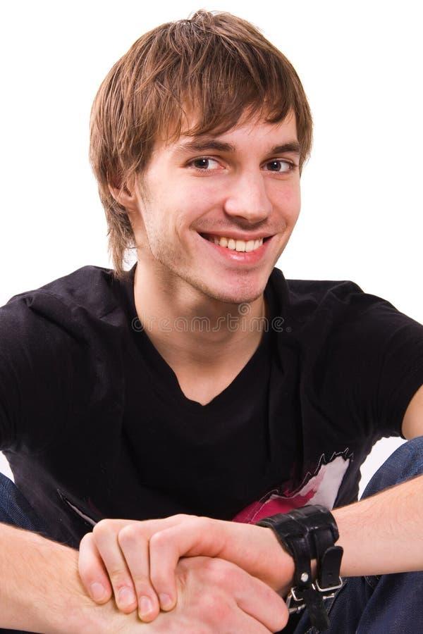 Überzeugtes Portrait des jungen Mannes stockbilder