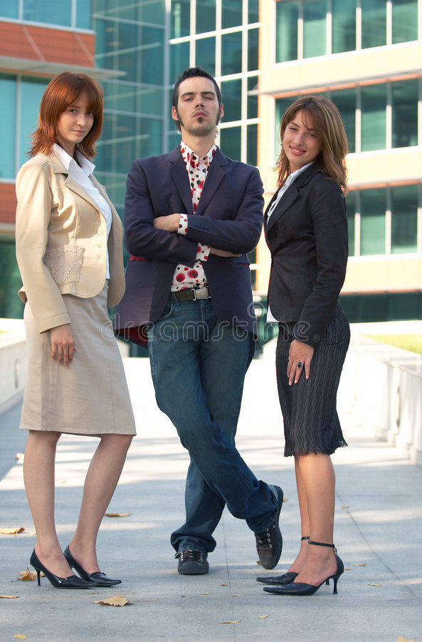 Überzeugtes Verkaufs-Team lizenzfreies stockfoto