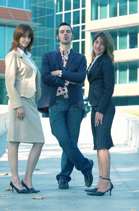 Überzeugtes Verkaufs-Team stockfotos