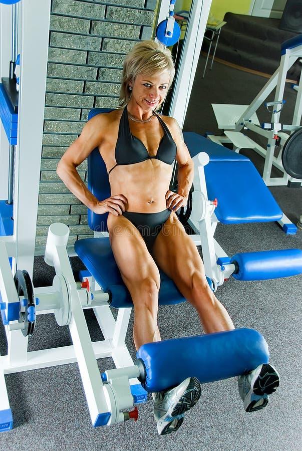 Übung für Streckmuskel lizenzfreies stockbild