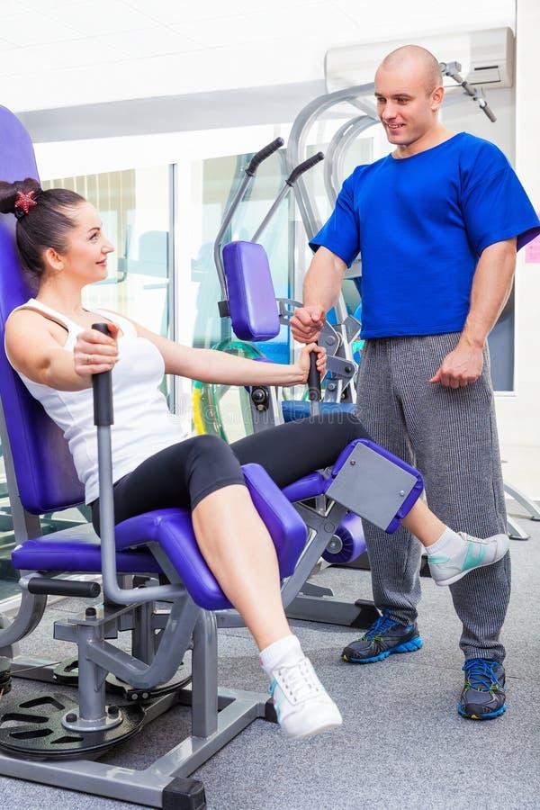 Übungen für die Beine stockbilder