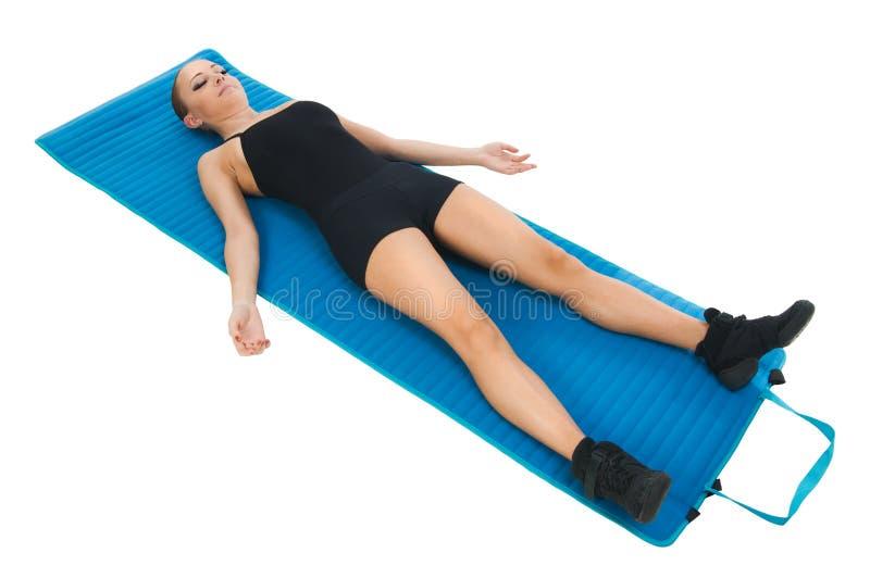 Übungen für Entspannung stockbild