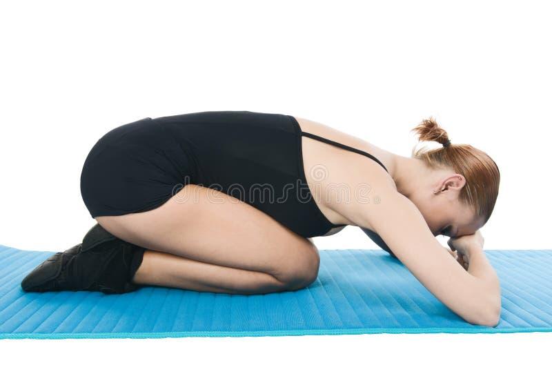 Übungen für Entspannung stockbilder