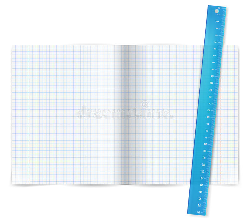 Übungsbuch mit Machthaber stock abbildung