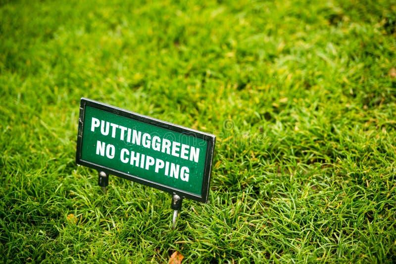 Übungsgrün am Golfplatz stockfotografie